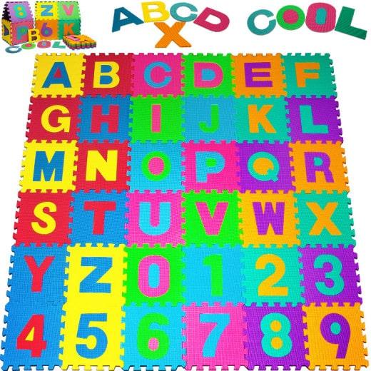 tapis puzzle mousse 86 pieces 32x32 cm