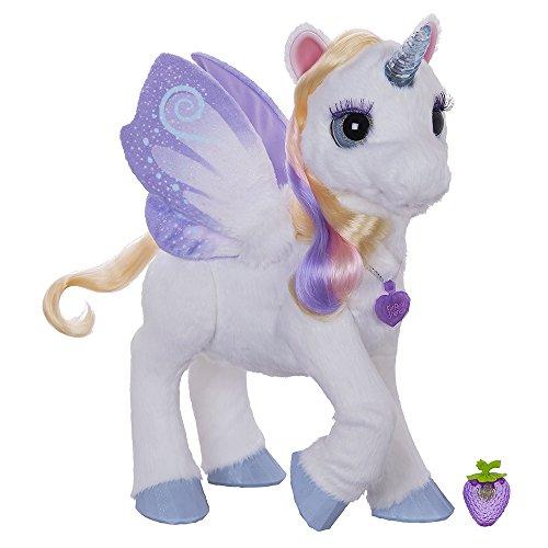 Starlily es un uncornio blanco y mágico. Se mueve, emite música y sonidos.