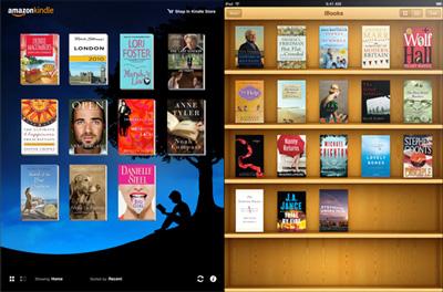 iBooks vs. Amazon Kindle App for iOS