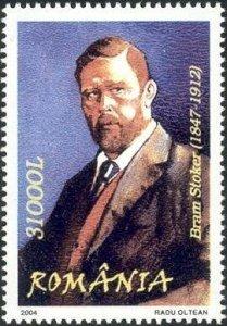 Bram Stoker auf rumänischer Briefmarke
