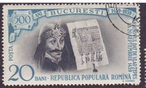 Vlad Tepes auf rumänischer Briefmarke
