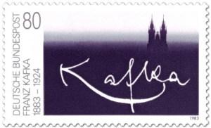 Briefmarke der Deutschen Bundespost von 1983 mit Franz Kafka.