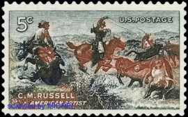 Charles Marion Russell postage stamp 1964
