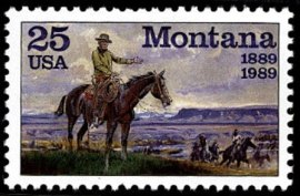 Charles Marion Russell postage stamp 1989