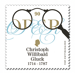 Christoph Willibald Gluck Briefmarke2014