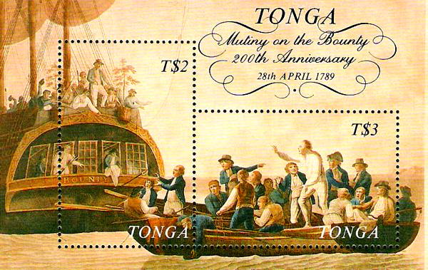 bounty-Briefmarkenblock-Tonga
