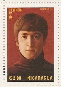 John Lennon auf Briefmarke aus Nicaragua