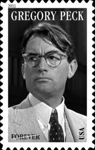 Gregory Peck auf Briefmarke USA