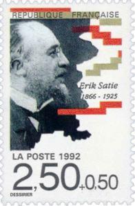 Erik Satie auf Briefmarke aus Frankreich