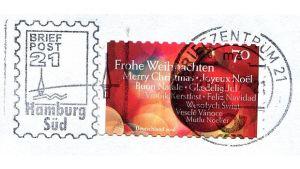 Fehlerhafte Weihnachtsbriefmarke