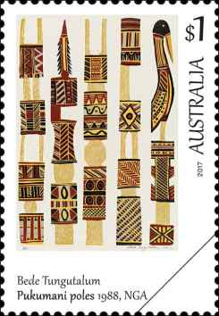 art-of-the-north-bede-tungutalum 1984 Australien Briefmarke Down Under stamp Kultur Kunst (1)