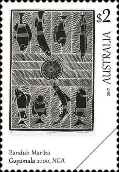 art-of-the-north-bede-tungutalum 1984 Australien Briefmarke Down Under stamp Kultur Kunst (2)