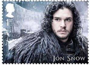 Jon Snow Game of Thrones George R.R. Martin Briefmarke Stamp British Mail Post
