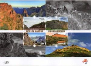 Madeire Briefmarke Block Portugal Berge Vulkan Neuausgabe 2018