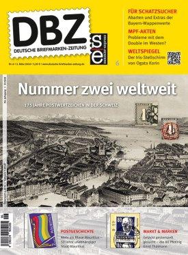 DBZ Deutsche Briefmarken Zeitung Maerz 2018 3 Postwertzeichen Pwz Schweiz Blaue Mauritius (1)