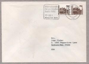 Raetselhafte Standardbrief USA Deutschland BRD DDR Wiedervereinigung