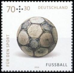 Fussball Legenden Ball Leder Briefmarke