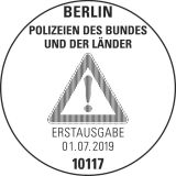 Stempel Berlin Deutsche Polizeien
