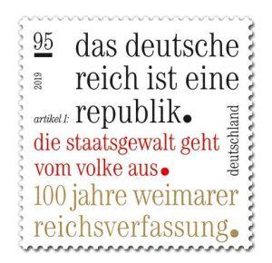 Briefmarke Deutschland 100 Jahre Weimarer Verfassung