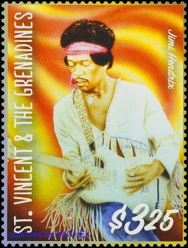Briefmarke St. Vincent Jimi Hendrix