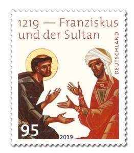 Briefmarke Deutschland Franziskus und Sultan