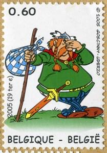 Majestix auf belgischer Briefmarke von 2005.