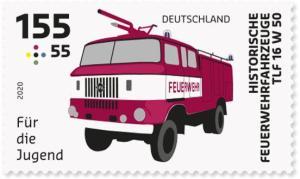 Briefmarke Deutschland Feuerwehr