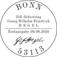 Stempel Bonn Georg Wilhelm Friedrich Hegel
