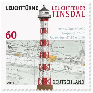 Briefmarke-Deutschland Leuchtturm Tinsdal