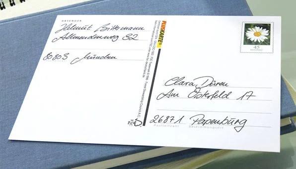Porto Brief Usa Deutschland