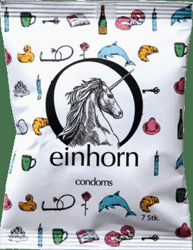 Einhorn Kondome Verpackung von vorne