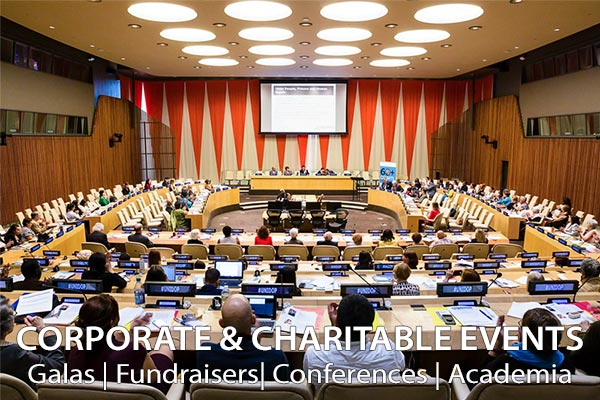 Corporate and Charitable Events: Galas, Fundraisers, Conferences and Academia