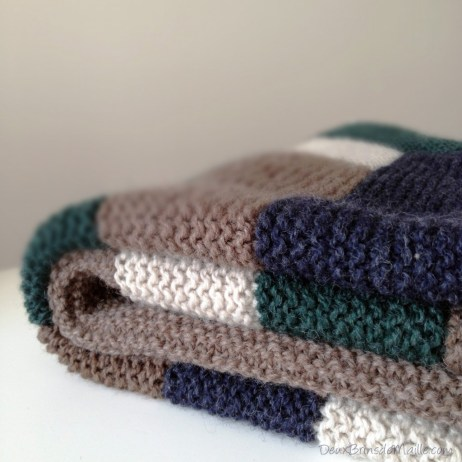 Knitting Log Cabin Blanket