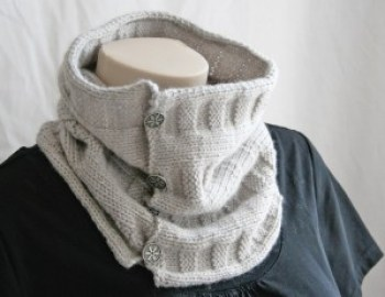 Knitting Pattern Cowl Woven Cowl