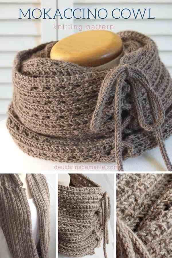 Knitting Pattern|Mokaccino Cowl | Deux Brins de Maille