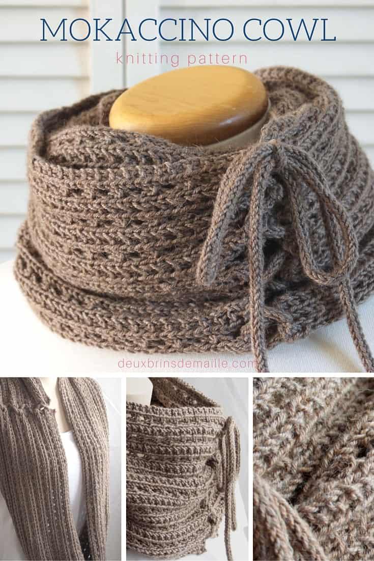 Knitting Pattern : The Mokaccino Cowl