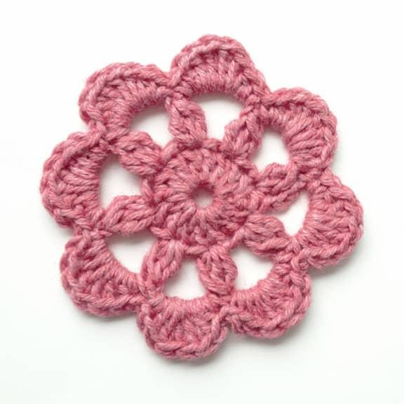 Rainy Day Free Crochet Motif Flower