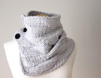 Knitting Pattern Cowl Geometric Cowl Deux Brins de Maille1