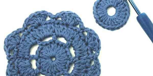 [How to] Crochet A Flower Motif
