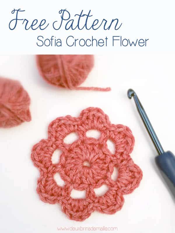 Free Crochet Flower Motif Pattern Sofia