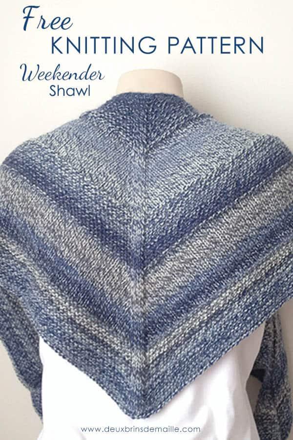 3b992a197 Deux Brins de Maille - Free Knitting Pattern Weekender Shawl - Deux ...