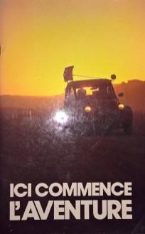 Ici commence l'aventureWie pimpe ich meinen 2CV für den grossen Raid? Ein Broschüre von Citroën mit vielen technischen Illustrationen, genauen Anleitungen und umwerfenden Bilder.