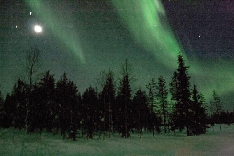 Northern lights in Ruka