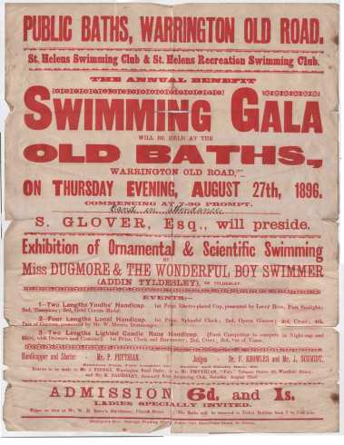 1896-8-27 St Helens poster
