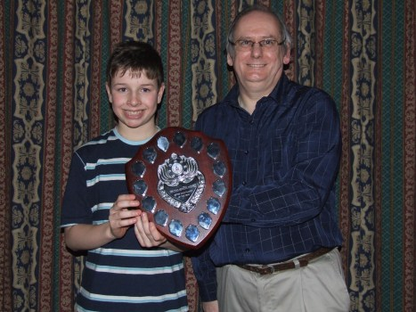 Ed Morley won the Ryan Heywood Trophy for the Most Valued Junior Water Polo Player in 2007. Ed is seen here with Eric Harrison the Junior Water Polo Head Coach.