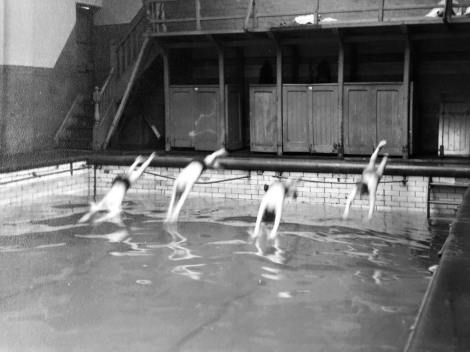 Diving in at Tyldesley pool 2