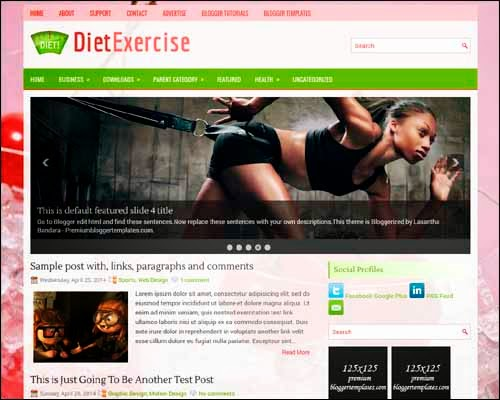 DietExcercise free blogger template