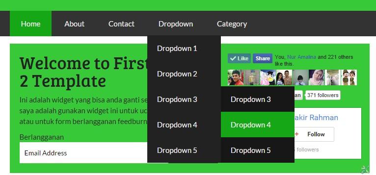 Widgetized Multilevel dropdown menu