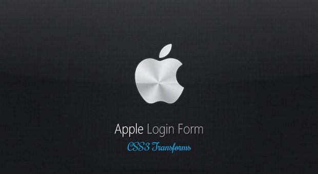 Apple Like Login Form