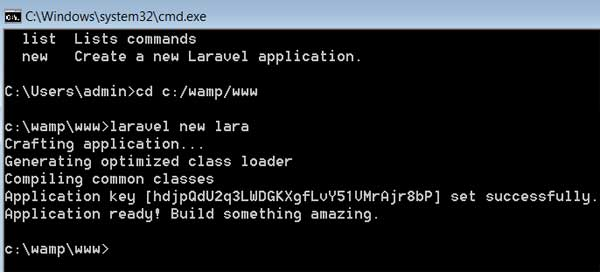 install-laravel-on-windows-installed